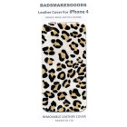 BADSMAKESGOODS レザーカバー for iPhone4+4S(Fur-CheetahWhite)