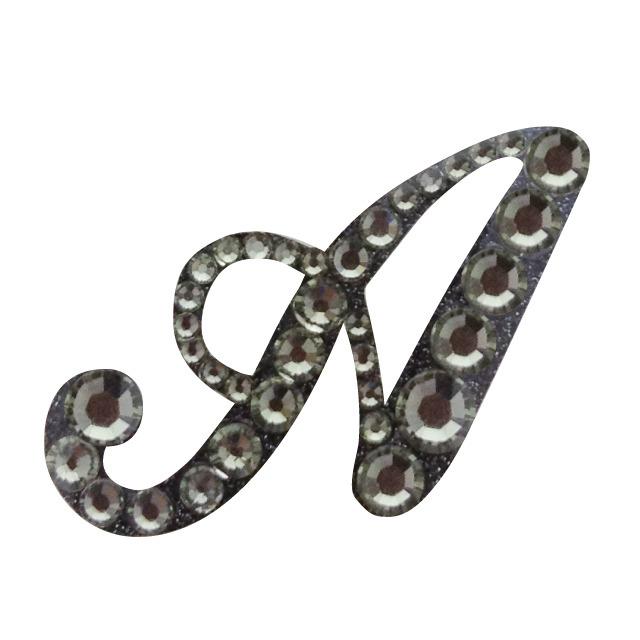 KIRA Rich Jewel seal/イニシャル 【A】ブラックダイヤモンド