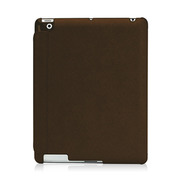 【iPad(第3世代/第4世代) iPad2 ケース】LeatherLook with Front cover for iPad (第3世代)/iPad 2 コッパーブラウン