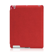 【iPad(第3世代/第4世代) iPad2 ケース】LeatherLook with Front cover for iPad (第3世代)/iPad 2 レッド