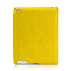 【iPad(第3世代/第4世代) iPad2 ケース】LeatherLook with Front cover for iPad (第3世代)/iPad 2 イエロー