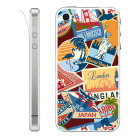 【iPhone】Leaflick スキンシール for iPhone4/4S (World travel)