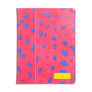 【iPad(第3世代/第4世代) iPad2 ケース】Printed Coated Canvas iPad Slim Stand - Lipstick Pink Ocelot?iPad (第3世代) / iPad2