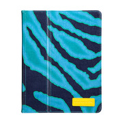 【iPad(第3世代/第4世代) iPad2 ケース】Printed Coated Canvas iPad Slim Stand - Emerald Zebra?iPad (第3世代) / iPad2