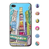 【iPhone4S/4 スキンシール】Cushi GIFT Times Square