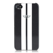 【iPhone ケース】CG Mobile MINI Stripes Hard Case for iPhone 4S/4 メタリックグレー