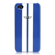 【iPhone ケース】CG Mobile MINI Stripes Hard Case for iPhone 4S/4 ブルー