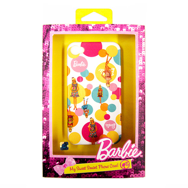 【限定】【iPhone4S/4 ケース】Barbie My Sweet Smart Phone Case ILカラフルサークルWH