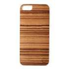 【iPhoneSE/5s/5 ケース】Real wood case Genuine Zebrano ホワイトフレーム