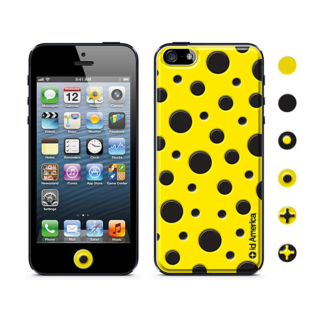 a90c36c62d iPhoneSE/5s/5 スキンシール】Cushi Dot Yelow id America | iPhone ...