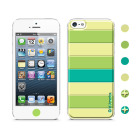 【iPhoneSE/5s/5 ケース】Cushi Stripe Green
