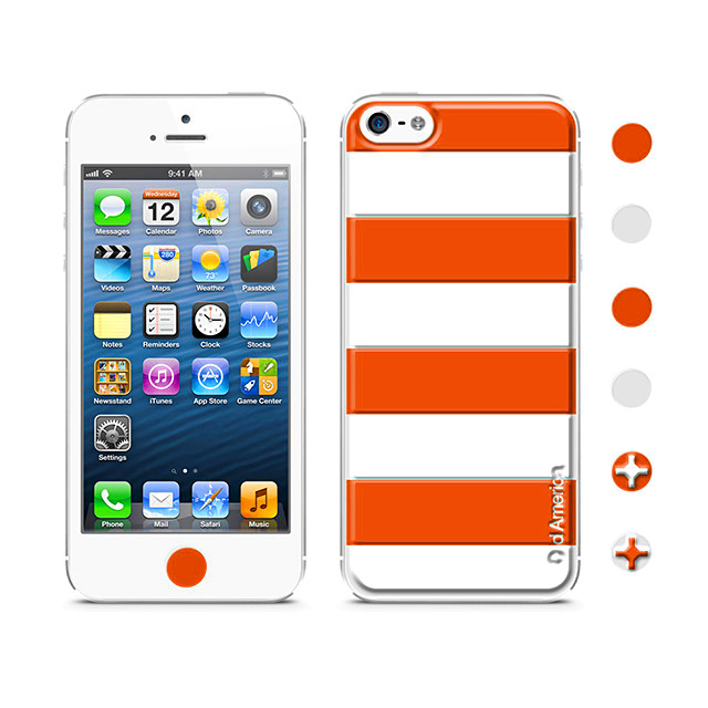【iPhoneSE/5s/5 スキンシール】Cushi Stripe Red