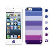 【iPhoneSE/5s/5 ケース】Cushi Stripe Purple