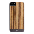 【iPhoneSE/5s/5 ケース】Crafted Woods Case (Zebrawood)