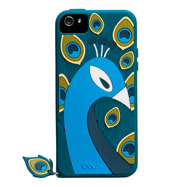 【iPhoneSE/5s/5 ケース】Creatures (Peacock, Teal)