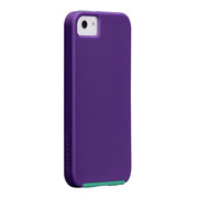 【iPhoneSE/5s/5 ケース】Hybrid Tough Case, Violet Purple /Pool Blue