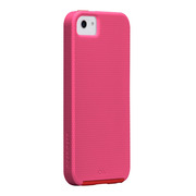 【iPhoneSE/5s/5 ケース】Hybrid Tough Case, Lipstick Pink /Flame Red