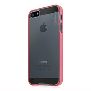 【iPhoneSE/5s/5 ケース】Soft Jacket Fuze DS Clear / Clear Red