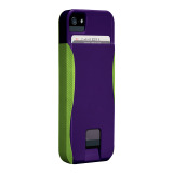 【iPhoneSE/5s/5 ケース】POP! ID Case, Violet Purple/Chartreuse Green