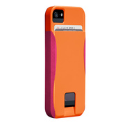 【iPhoneSE/5s/5 ケース】POP! ID Case, Tangerine Orange/Lipstick Pink