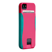 【iPhoneSE/5s/5 ケース】POP! ID Case, Lipstick Pink/Pool Blue