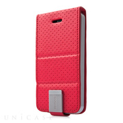 【iPhoneSE/5s/5 ケース】Folder Case Upper Polka Red/Grey