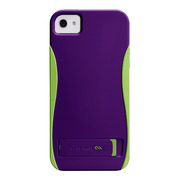 【iPhoneSE/5s/5 ケース】POP! with Stand Case (Violet Purple/Chartreuse Green)