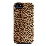 【iPhoneSE/5s/5 ケース】DESIGNER PRINTS Hybrid Tough Case, Cheetah/Black