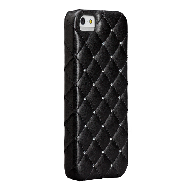 【iPhoneSE/5s/5 ケース】Madison Black Quilted (With Swarovski Crystals)サブ画像