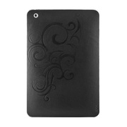 【iPad mini スキンシール】Leatherskins for iPad mini(Black Embossed)