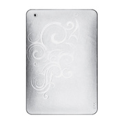 【iPad mini スキンシール】Leatherskins for iPad mini(White Embossed)