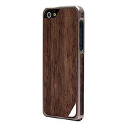 【iPhoneSE/5s/5 ケース】Alloy X Wood (Titanium×Ebony)