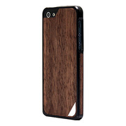 【iPhoneSE/5s/5 ケース】Alloy X Wood (Black×Ebony)