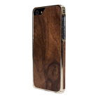 【iPhoneSE/5s/5 ケース】Alloy X Wood (24K White Gold×Teak)【バンパー】