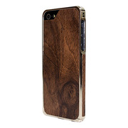 【iPhoneSE/5s/5 ケース】Alloy X Wood (24K White Gold×Teak)