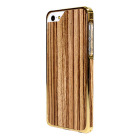 【iPhoneSE/5s/5 ケース】Alloy X Wood (24K Yellow Gold×Teak)【バンパー】