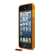 【iPhoneSE/5s/5 ケース】ThinEdge frame case (Matte Orange)
