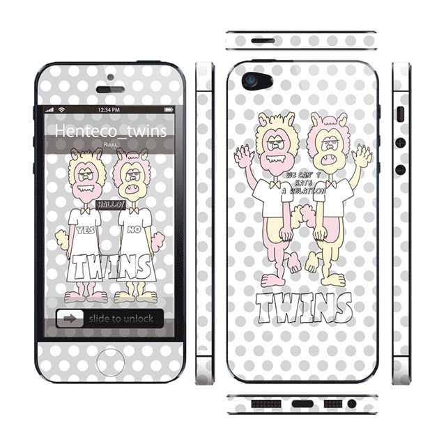 【iPhone5 スキンシール】Thinclo Thtyle 『 Henteco twins 』