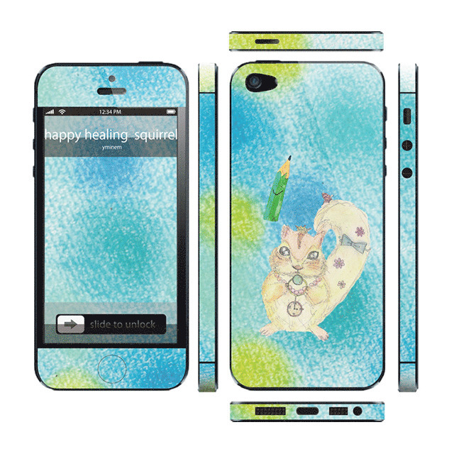 【iPhone5 スキンシール】Thinclo Thtyle 『 happy healing  squirrel 』