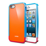 【iPhoneSE(第1世代)/5s/5 ケース】Linear POPs (Orange)