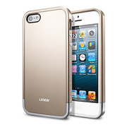 【iPhoneSE/5s/5 ケース】Linear Metal series (Champagne Gold)