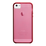 【iPhoneSE/5s/5 ケース】Haze Case (Lipstick Pink / Flame Red)