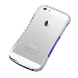 【iPhoneSE/5s/5 ケース】CLEAVE ALUMINUM BUMPER Mighty (Dark night Silver/Blue)