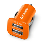 Dual USB Car Charger (Orange)