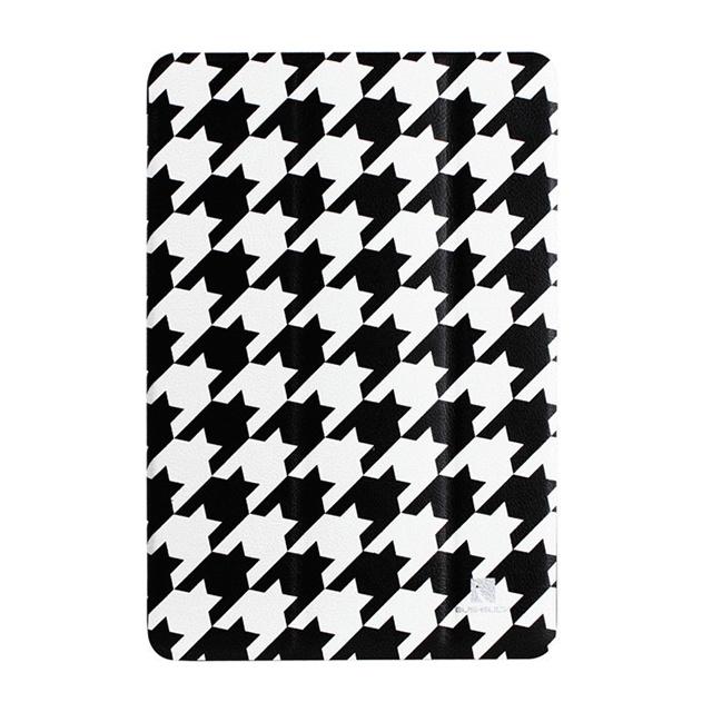 【iPad mini(初代) ケース】B&Wシリーズ千鳥格子柄ケース ブラック/ホワイト