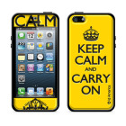 【iPhoneSE/5s/5 ケース】Cushi Plus KEEP CALM (Yellow)【バンパー】