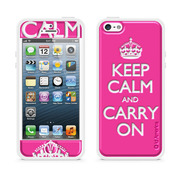 【iPhoneSE/5s/5 ケース】Cushi Plus KEEP CALM (Pink)