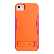 【iPhoneSE/5s/5 ケース】POP! with Stand Case (Pool Tangerine Orange/Lipstic