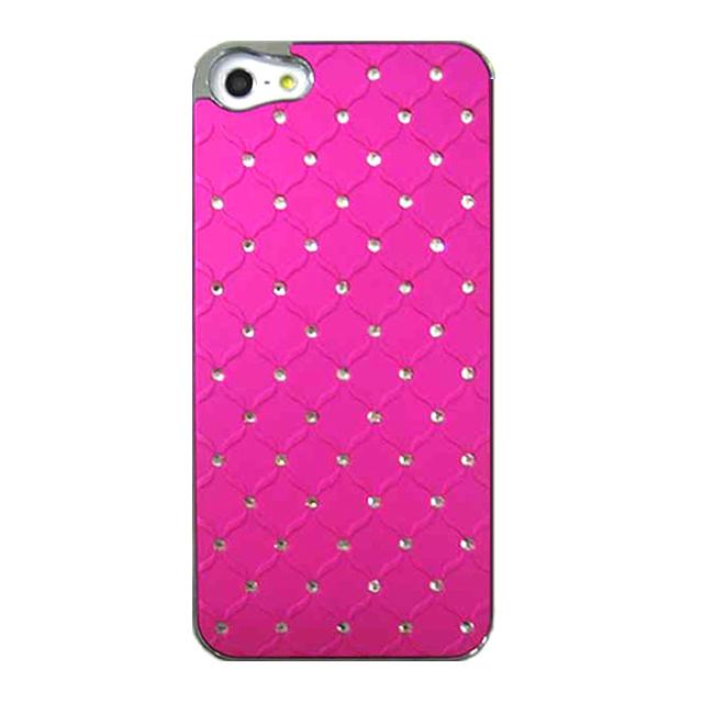 【iPhone5 ケース】キルティングストーン(ピンク)