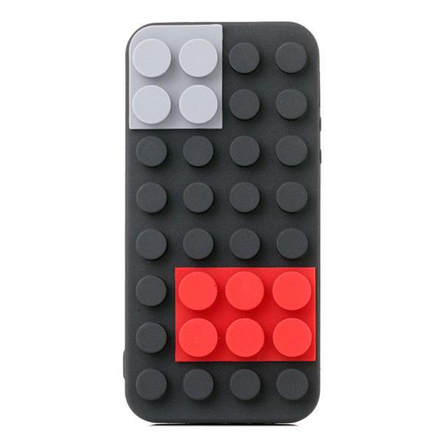 【iPhoneSE/5s/5 ケース】Block Case (ブラック)
